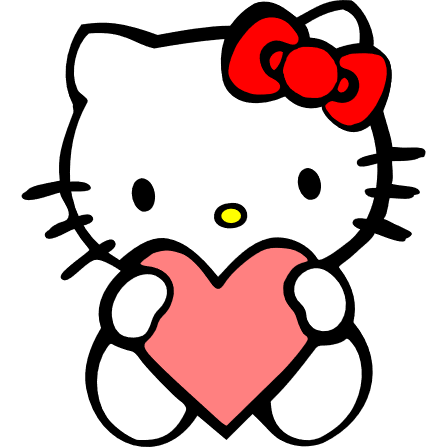 Hello kitty held heart - free_arinco_org.png
